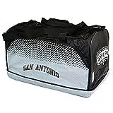 NBA サンアントニオ・スパーズ San Antonio Spurs オフィシャル商品 スポーツバッグ ボストンバッグ (25cm x 22cm x 42cm) (ホワイト/ブラック)