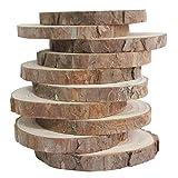 木製スライス 15枚9-10CM木製のログは、DIYの工芸品のためのディスクをスライス
