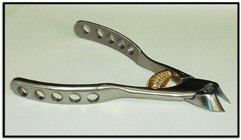誰もバー正確に日本製 プレミアム?ニッパー爪切 穴あきクレーター高級ンハンドル  難儀爪や巻爪に! 完全品