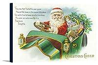クリスマスCheerシーンとサンタ車を運転する 36 x 23 Gallery Canvas LANT-3P-SC-17444-24x36