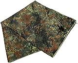 BW ドイツ連邦軍 シェルター ハーフ テント タープ ポンチョ パップテント FLECKTARN 迷彩 340 x 125cm 軍払下品