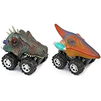 Pull Backおもちゃ車恐竜モデルVehicles 2個