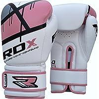 RDX Maya ハイド レザー ボクシング グローブ F7 (ピンク, 8oz)