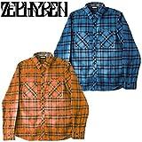 ZEPHYREN ゼファレン CHECK SHIRT L/S チェックシャツ L NAVY