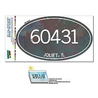 60431 ジョリエット, IL - ユニセックスメタル - 楕円形郵便番号ステッカー