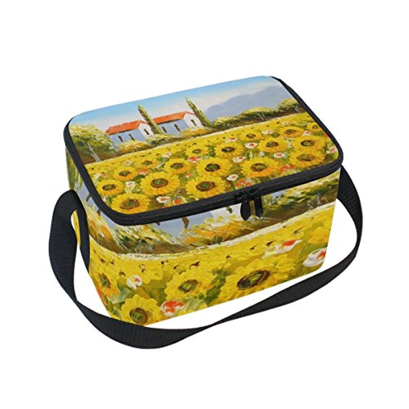 薬急行するリマクーラーバッグ クーラーボックス ソフトクーラ 冷蔵ボックス キャンプ用品  油絵 田舎の景色 プリント 保冷保温 大容量 肩掛け お花見 アウトドア