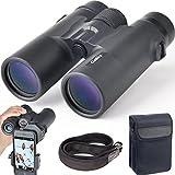 观鸟的10x42双筒望远镜风景見晴らし 的狩猎演唱会运动与户外游戏 - BAK4棱镜明亮的清晰光学–智能手机 Digiscoping アダプターストラップキャリングケース