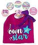 子供用冬用ビーニー帽と手袋のセット 5種類のセット 冬用ギフトセット かわいい動物ヘッドウェア OneSize ピンク abc