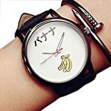 PUMA 腕時計 ZooooM おもしろ ウォッチ シンプル デザイン 文字盤 アナログ 腕 時計 ファッション アクセサリー ユニーク カジュアル メンズ レディース 男性 女性 (バナナ:ホワイト) ZM-TABEMOJI-BAWH
