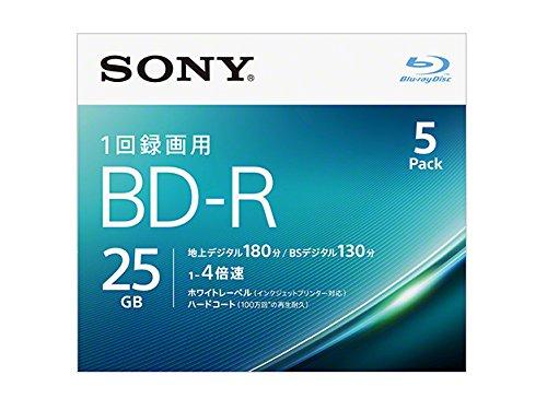 SONY ビデオ用ブルーレイディスク 5BNR1VJPS4(BD-R 1層:4倍速 5枚パック)
