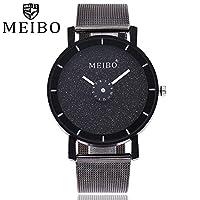 Hotsale 。WensLTD Classy ElegantユニセックスステンレススチールQuartz Wrist Watch 標準 fs