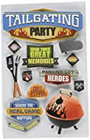 (Tailgating Party) - Paper House Productions STDM-0237E 3D Cardstock Stickers, Tailgating Party (3-Pack)