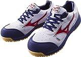 ミズノ 安全靴 MIZUNO ワークシューズオールマイティ C1GA1600 01 ホワイト×レッド×ネイビー 27cm