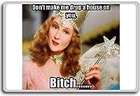 Glenda, Don't Make Me Drop A House On You Bi..... - funny quotes fridge magnet - ?????????