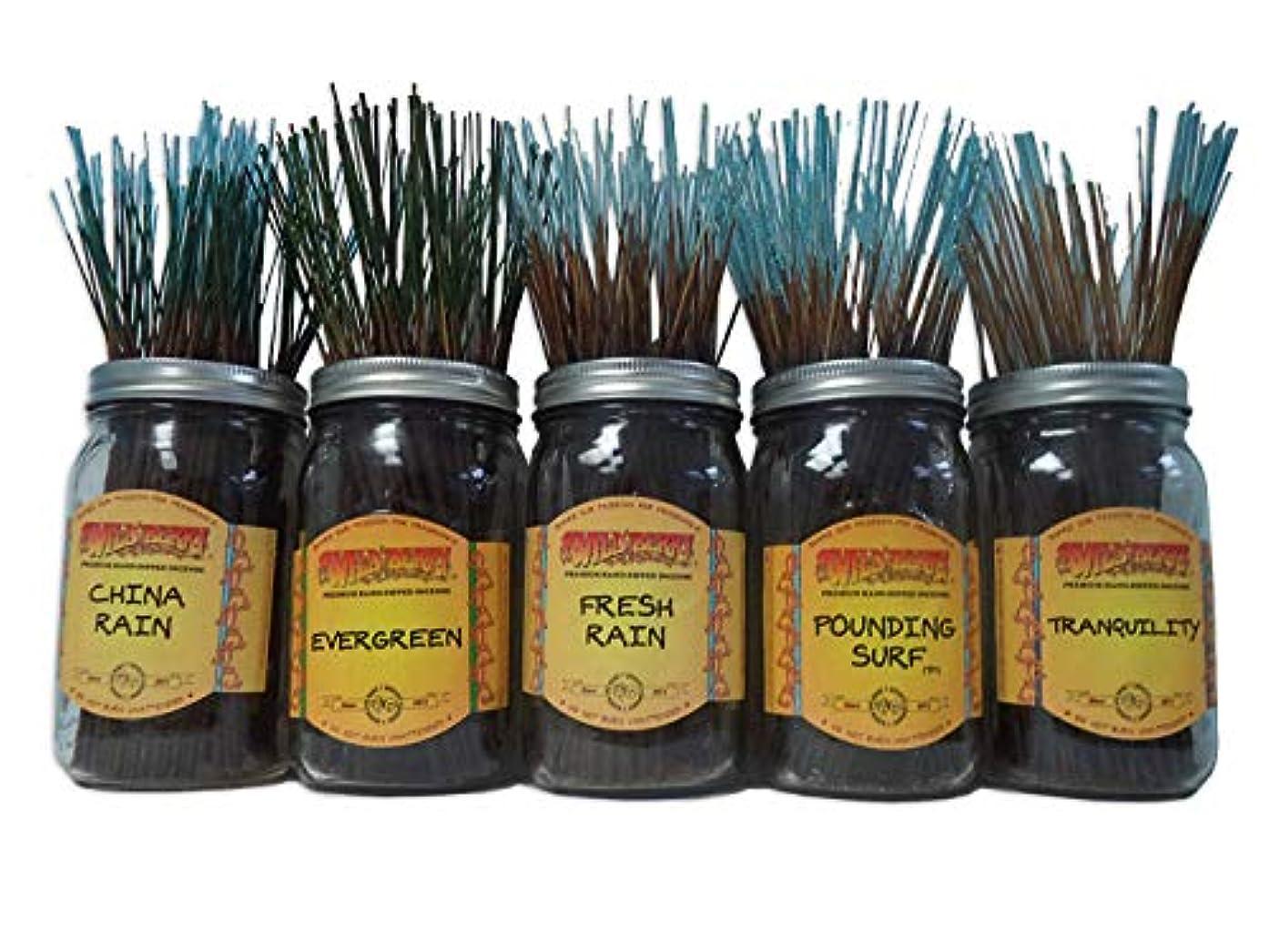 出撃者微生物オリエンテーションWildberry Incense Sticks Fresh & Clean Scentsセット# 1 : 20 Sticks各5の香り、合計100 Sticks 。