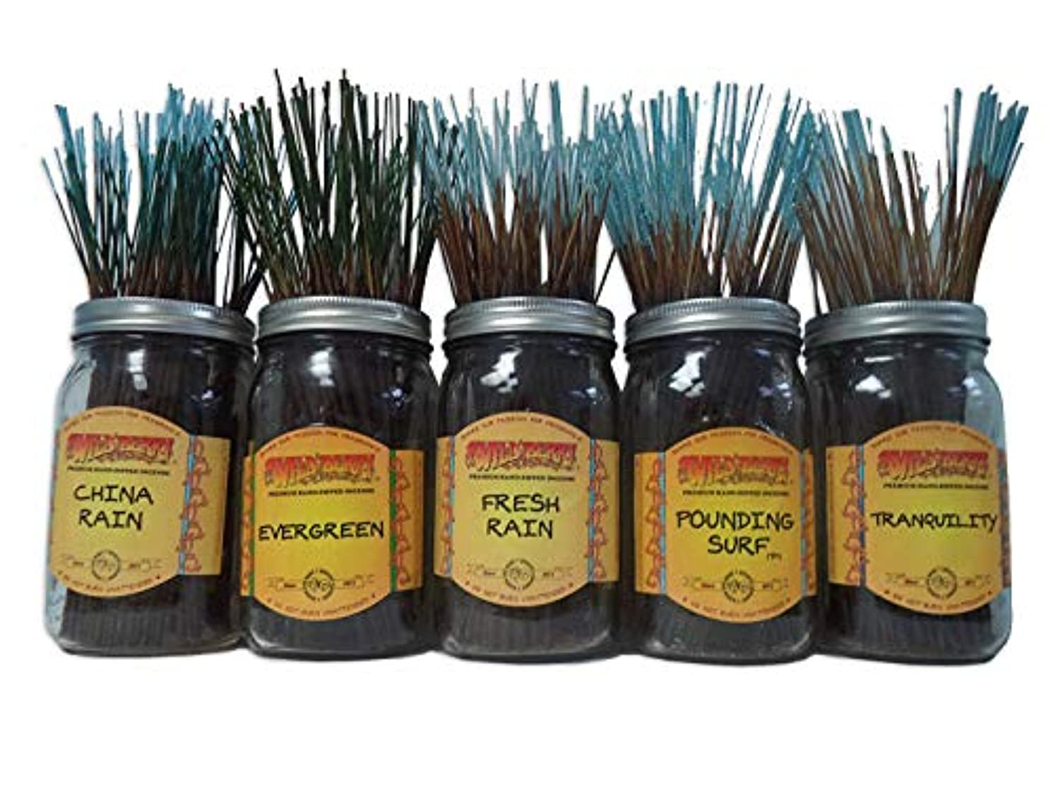 交響曲ブルジョン曇ったWildberry Incense Sticks Fresh & Clean Scentsセット# 1 : 20 Sticks各5の香り、合計100 Sticks 。
