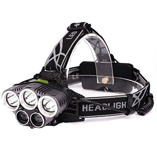 ヘッドライト Lovten LEDヘッドライト LED ヘッドライト 充電式 LED ヘッドランプ 防水18650 5灯式 5段階の点灯モード 登山 夜釣り 自転車 アウトドア作業 SOSフラッシュ機能 LED 懐中電灯 ヘッド ライト 防災 災害対策
