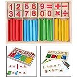 Itian 木製 計算おもちゃ  カウント玩具 積み木 数あそび 算数パズル 積み木 デジタル 知育玩具 算数棒 数遊び 幼児 子供 小学生用 誕生日のプレゼント