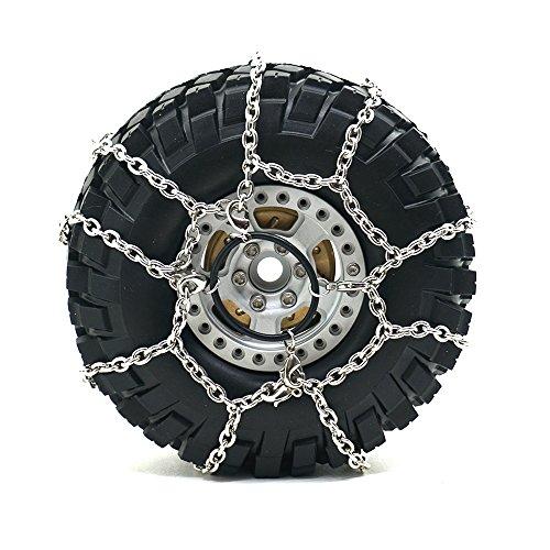 RCカー ロッククローラー 金属 タイヤチェーン スノーチェ...