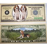 Set of 10 Bills-Beagle Million Dollar Bill by Novelties Wholesale [並行輸入品]