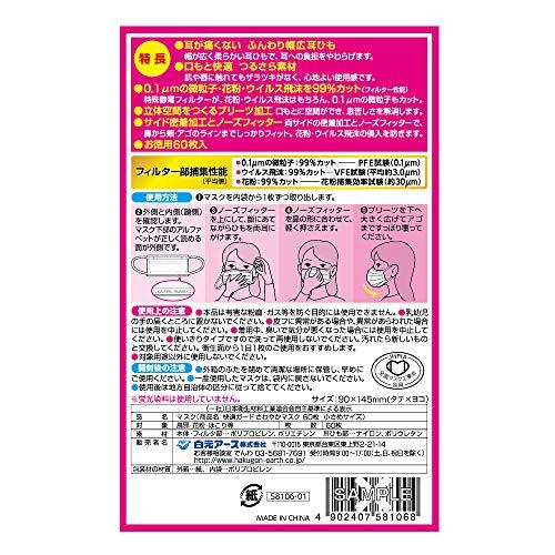 『(PM2.5対応)快適ガードさわやかマスク 小さめサイズ 60枚入』の1枚目の画像