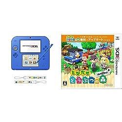 ニンテンドー2DS ブルー 【Amazon.co.jp限定】オリジナルストラップ 付 + とびだせ どうぶつの森 amiibo+ (「『とびだせ どうぶつの森 amiibo+』 amiiboカード」1枚 同梱) - 3DS セット