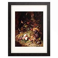 ラッヘル・ライス Rachel Ruysch 「Still-life with Fruit and Insects.」 額装アート作品