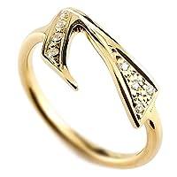 [アトラス] Atrus ナンバー 7 セブン 数字 リング イエローゴールド K18 18金 指輪 ダイヤモンド 20号