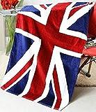 おしゃれ ユニオンジャック デザイン バスタオル 国旗 コットン タオル 140×70cm