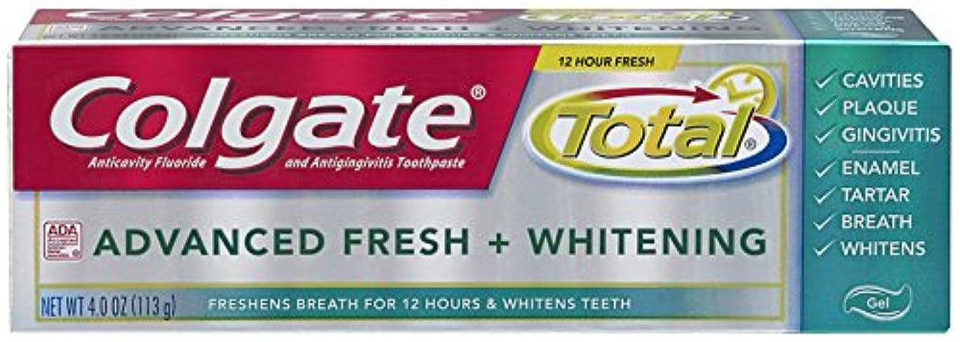 人間温かい苦行Colgate 総高度な新鮮+ホワイトニング歯磨き、4.0オンス(6パック) 6パック