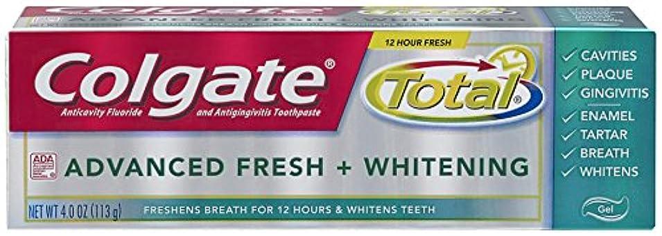 遮る区別率直なColgate 総高度な新鮮+ホワイトニング歯磨き、4.0オンス(6パック) 6パック