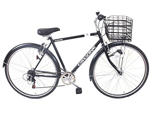 カルバイン (CALVINE) 27インチ 7段変速 LEDオートライト クロスバイク スポーツ用自転車