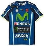 ヤマハ(YAMAHA) Tシャツ ロッシ VR46 Tシャツ モヴィスター&Monsterロゴ ブルー Sサイズ(欧州) Q5D-YSK-346-00W
