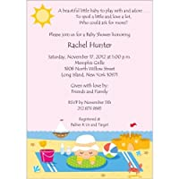 Beach Time Baby Shower Invitations - Set of 20 by Storkie Express