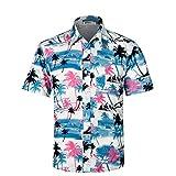 APTRO(アプトロ)アロハシャツ メンズ ビーチシャツ 通気速乾 超軽量 プリントシャツ 夏 イベント 祭り ハワイ 半袖シャツ HW009 日本XXL(US XL)
