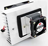 【SANCTUS】 ペルチェ式 ペルチエ式 DC12V 冷却ユニット 冷却効果大 ポータブル 保温庫 温冷庫 冷温庫 冷蔵庫 携帯冷蔵 アウトドア に 大型ヒートシンク搭載モデル (シルバー)
