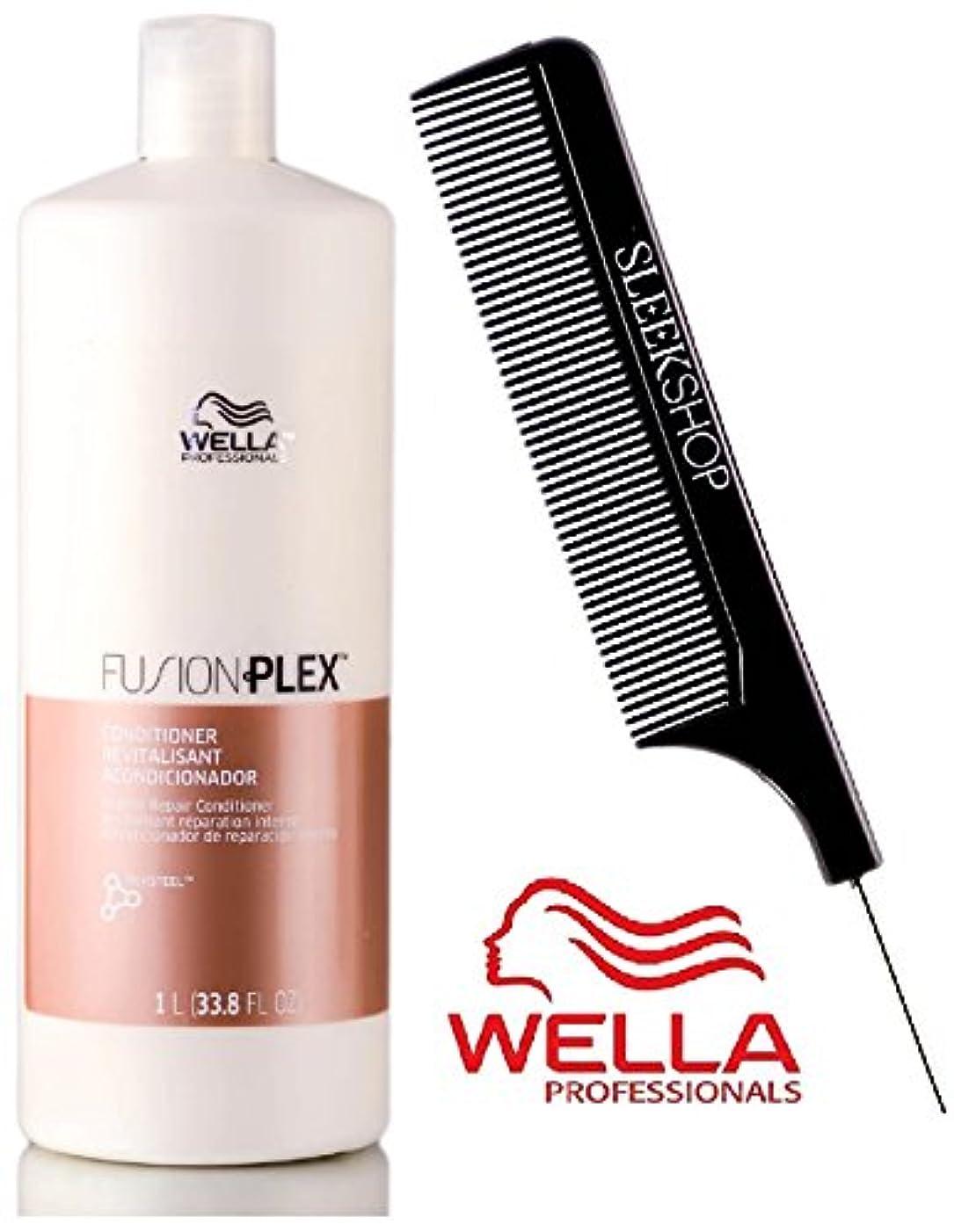 心理学オーク方言Wella FUSION PLEX Intense Repair Conditioner (with Sleek Steel Pin Tail Comb) (33.8 oz/1000 ml - LITER) 141[並行輸入]
