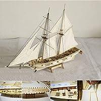 Aissimio木製船モデルDIY船モデルキットボート船キットセイルボート木製モデルキット玩具(タイプE)