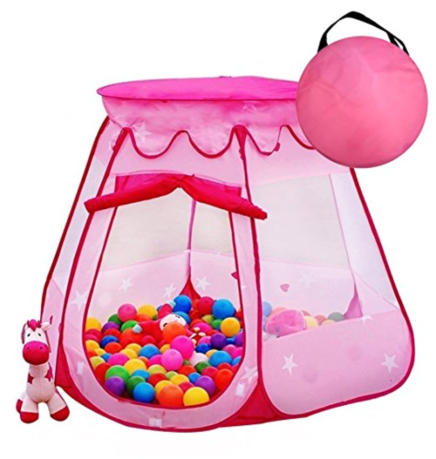 Pretty Six Sided Star Pop Up Play Tent for Girls