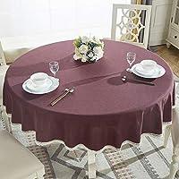 ラウンドテーブルソリッドカラーのテーブルクロス生地綿と麻の小さな新鮮な家の肥厚素朴なスタイルのレストランラウンドテーブルクロスコーヒーテーブルクロスカバータオル