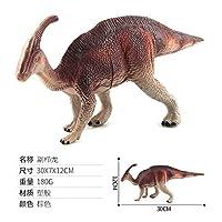 (Colour:brownish Red Parasaurolophus) - Qiyun Dinosaur Model Plastic High Simulation Dinosaur Model Toys Static Dinosaur Figures Decorationcolour:Brownish red Parasaurolophus