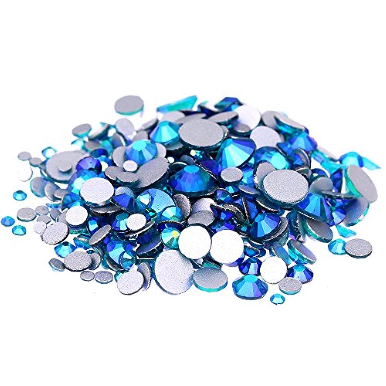 映画雨のメタリックNizi ジュエリー ブランド ブルージルコンオーロラ ラインストーン は ガラスの材質 ネイル使用 型番ss3-ss30 (SS16 1440pcs)
