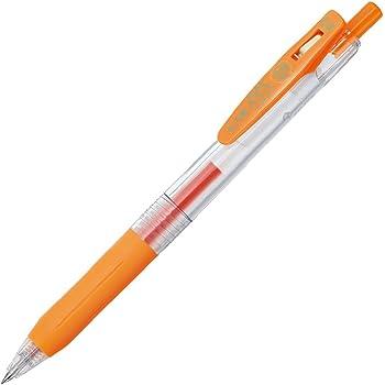 ゼブラ ジェルボールペン サラサクリップ 0.4 オレンジ 10本 B-JJS15-OR