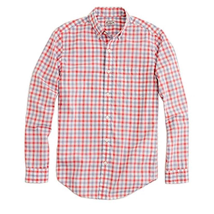 一定化学者着陸[ジェイクルー] J.CREW 正規品 メンズ 長袖BDシャツ LIGHTWEIGHT CHECK SHIRT RED-BLUE 並行輸入品 (コード:4044393863)