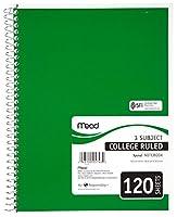 Mead Spiral3教科カレッジノート 罫線入り 色は選べません05748 Pack of 12
