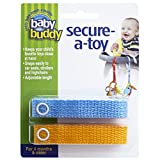 Baby Buddy 2 Piece Secure-A-Toy Safety Strap, Blue/Gold