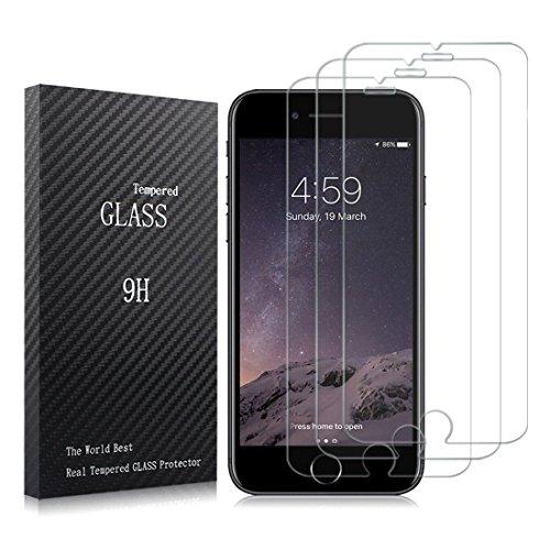 Iseason 【3枚入り】 iPhone 7 液晶保護フィ...
