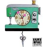 Allen Designs Studios アレンデザイン 振り子時計 掛け時計 「ミシン ソーイング」 P1312 [並行輸入品]