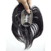 LARI-Lrj ヘアーピース 医療用かつら 人工皮膚 部分ウィッグ 総手植え メンズ/レディース カツラ かつら 100% 人毛 ショート レミーヘアー