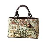 京都の老舗[笹井源商店]のイタリア製ゴブラン生地手提げバッグ